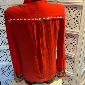 Bernenice red blouse