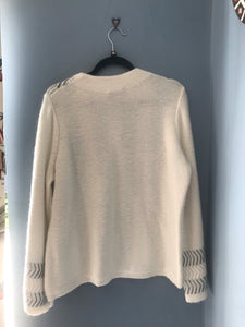 Mint velvet woollen cream jumper size 18