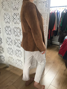 Suede brown jacket