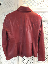 Leather jacket burgundy