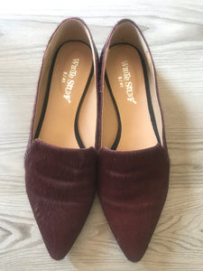 White stuff burgundy shoes size 8/41 £22