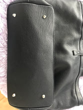 Genuine Leather black handbag - shopper/tote