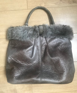 Shopper handbag with Fur