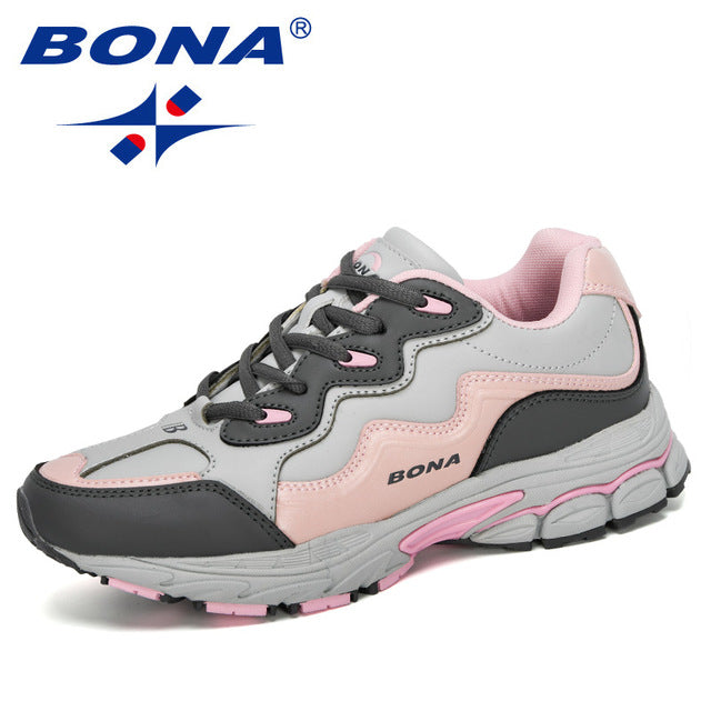 BONA 2020 New Designers Women Action Leather Running Shoes