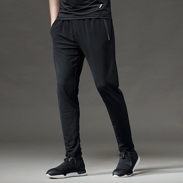 Men Sports Running Pants Pockets Athletic Football Soccer pant