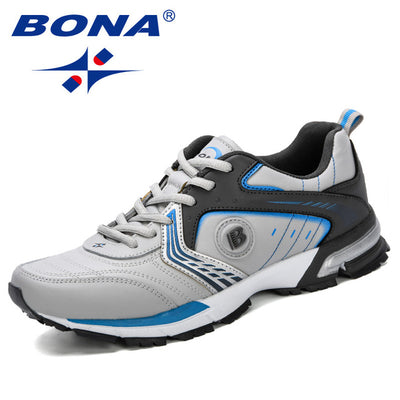 BONA 2019 Running Shoes Men Fashion Outdoor Light Breathable Sneakers Man