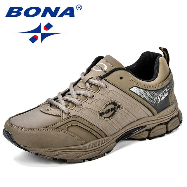 BONA Men Casual Shoes Microfiber Man Flats Lace Up Breathable Men Fashion