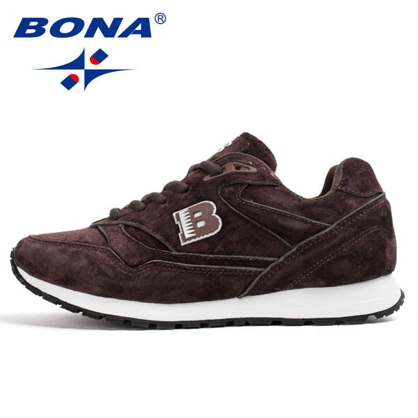 BONA New Popular Style Women Running Shoes Cow Split Breathable Lace Up