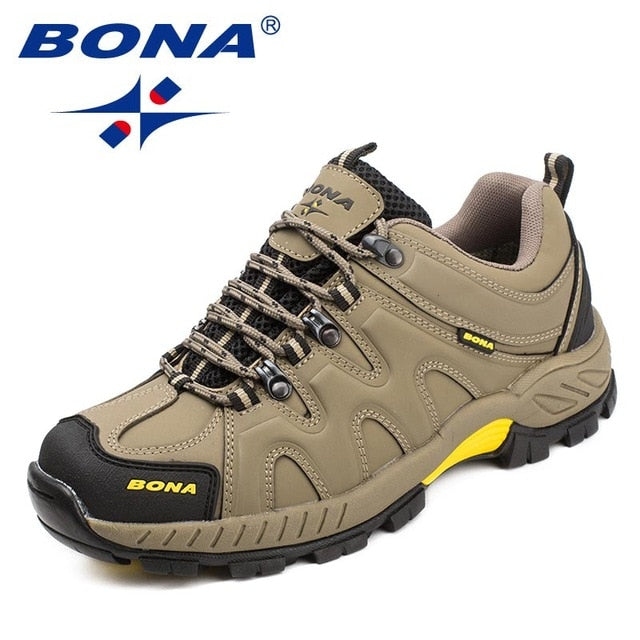 BONA New Arrival Classics Style Men Hiking Shoes Lace Up Men Sport Shoes