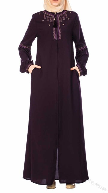 WEPBEL Women Muslim Dress Kaftan Abaya Slim Full Sleeve Muslim Party Dresses
