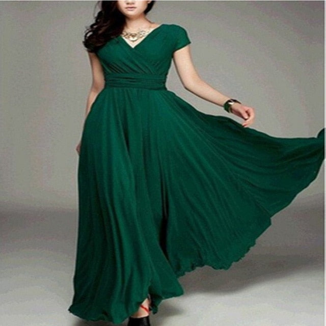 WEPBEL Women Dress Party Evening Gown Female High Waist