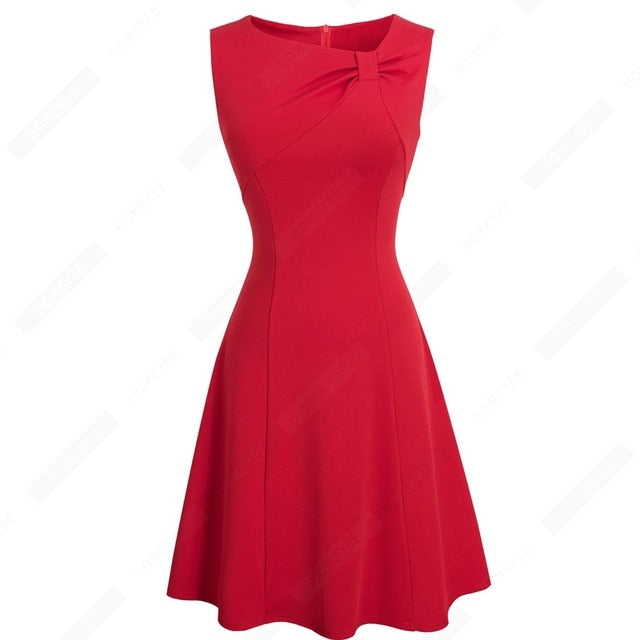 Women Fashion Sleeveless Wiggle Dress Casual Elegant