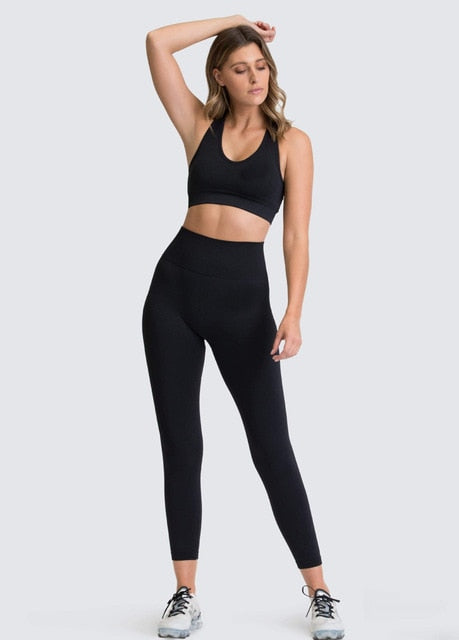 Sans couture hyperflex ensemble d'entraînement sport leggings