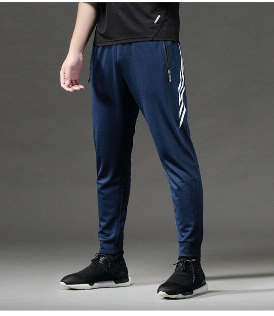 Breathable Sport Pants Mens Running Pants With Zipper Pocket
