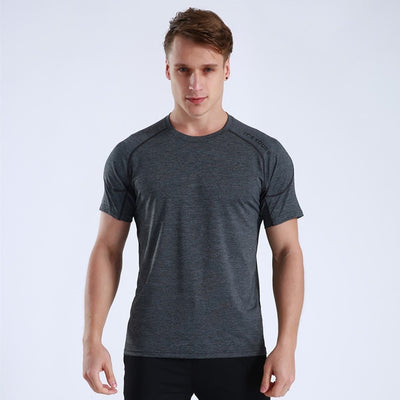 Men's Fitness T-shirt Running Short Sleeve Tops Shirt Quick Dry