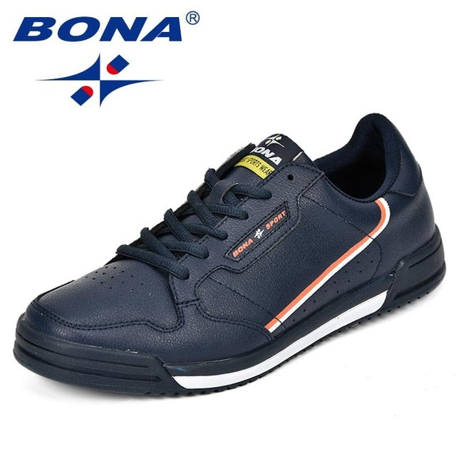 BONA Fashion Men Flats Shoes Autumn Breathable Men's Casual Shoes