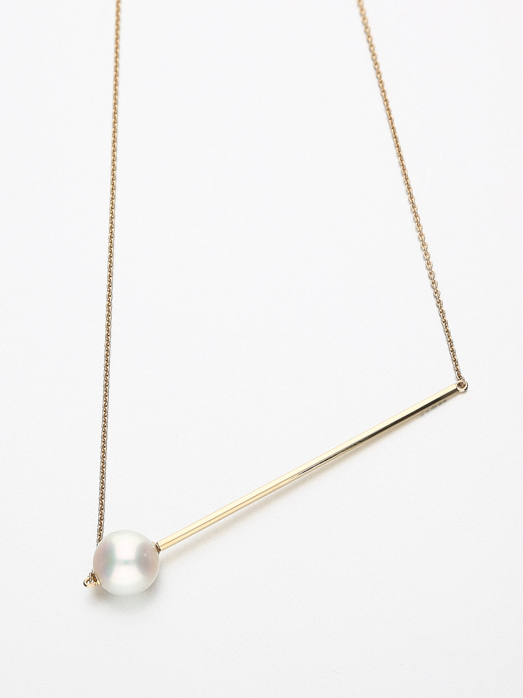 Abacus Pearl Necklace, Rose gold with white Southsea pearl 10mm