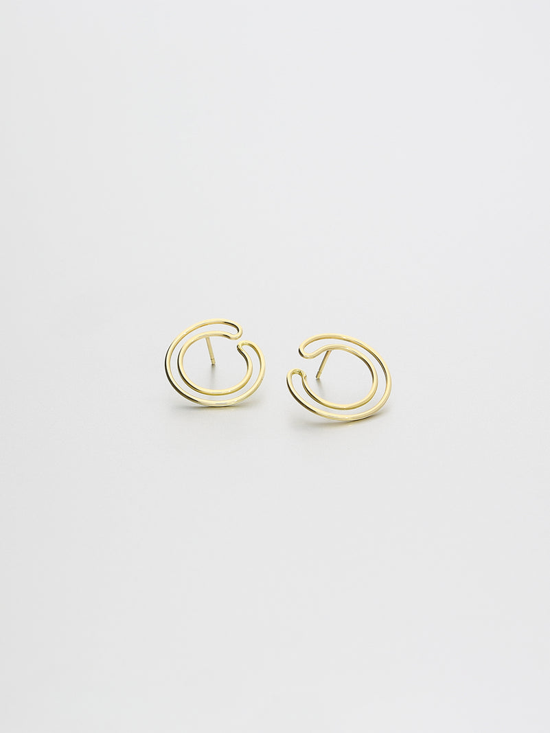 Cirque Earrings Small, Yellow gold