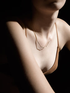 Fragment Necklace, Rose gold