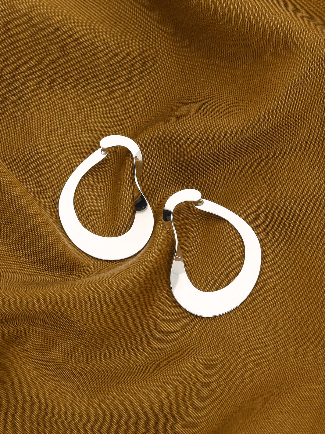 Moebius Earrings, I Silver