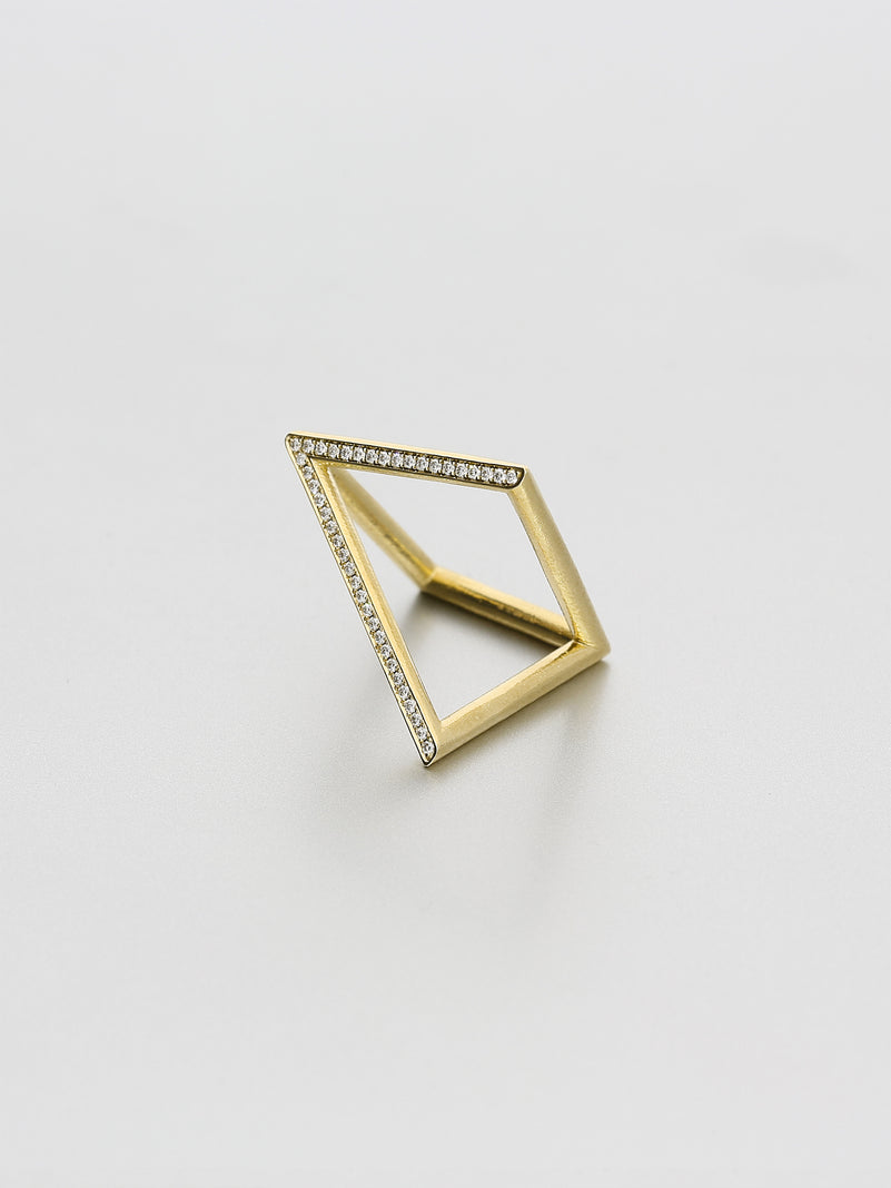 Vertex Ring, Yellow gold