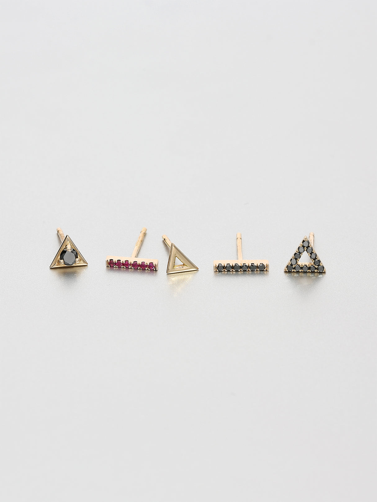 Vertex Stud Earrings, Rose gold 2