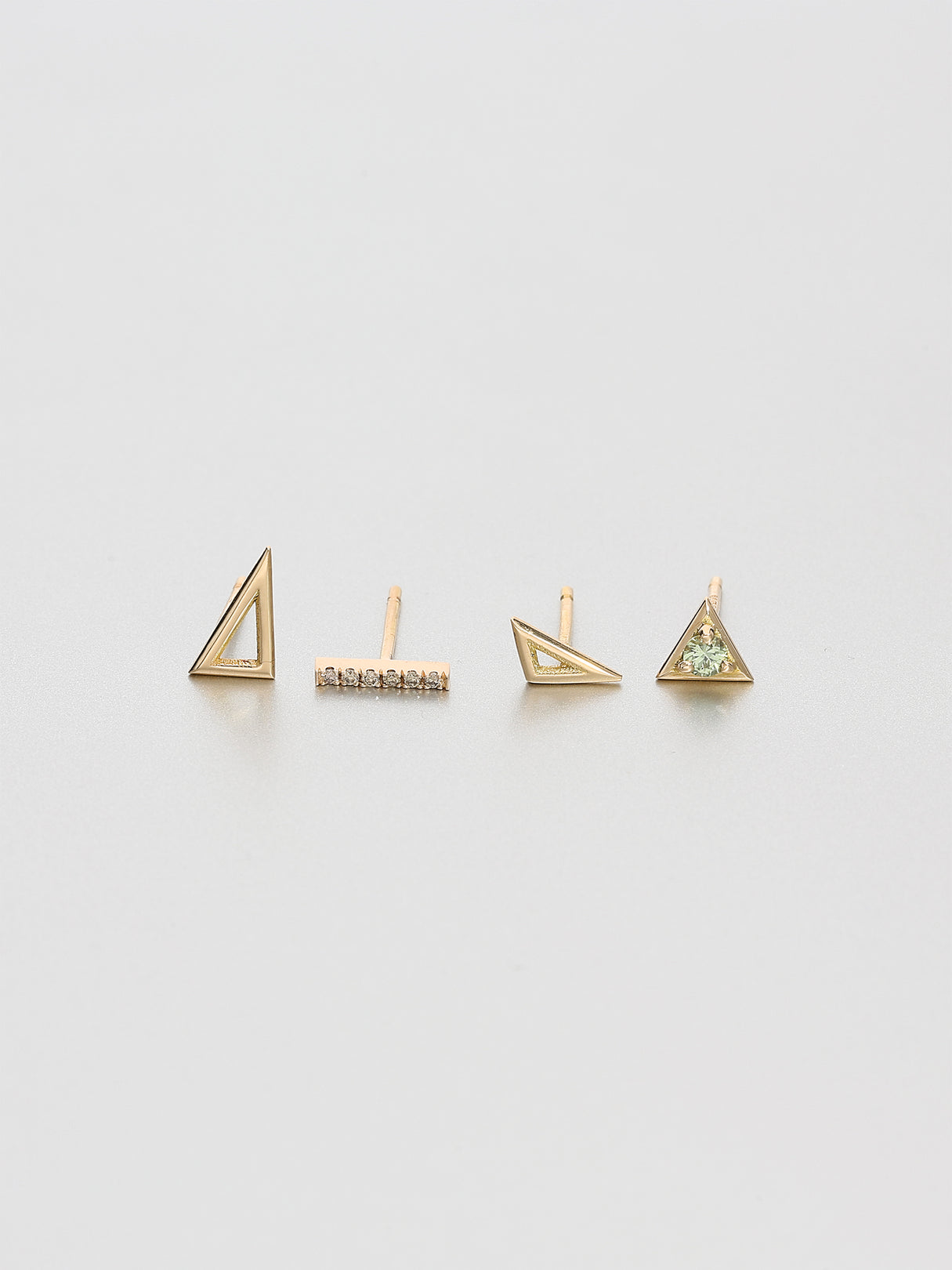 Vertex Stud Earrings, Rose gold 3