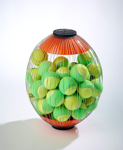 Additional Basket for Tennis Ball Mower with Mini Green Tennis Balls in by Kollectaball USA