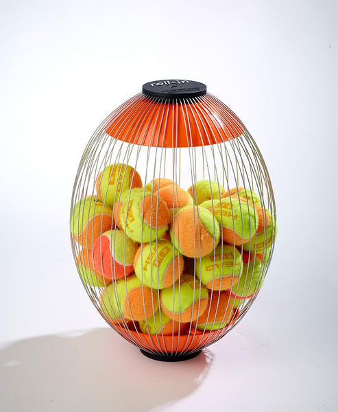 Additional Cage for Tennis Ball Retriever with mini orange tennis balls in by Kollectaball USA