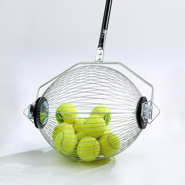 Kollectaball CS40 Tennis Ball Retriever with tennis balls in