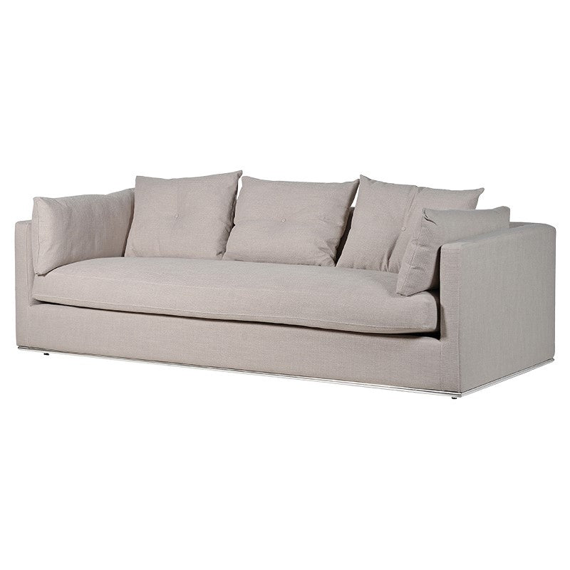 Natural 3 seater sofa