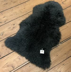 Dark grey sheepskin rug