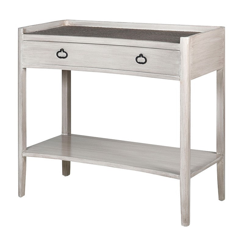Small curved console table
