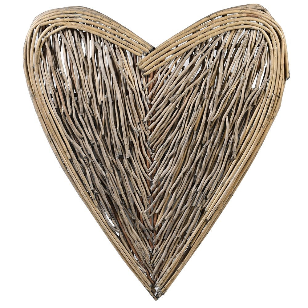 Natural Large Wicker Heart