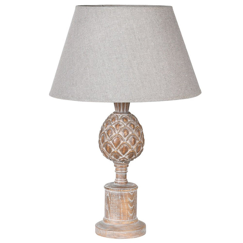 Decorative Wooden Acorn Lamp