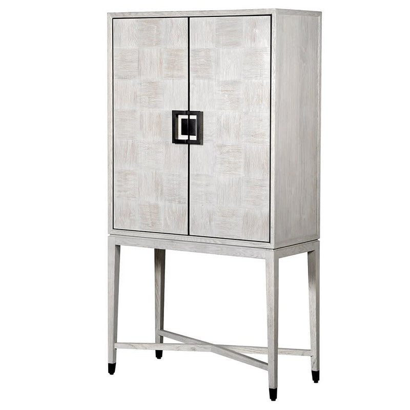 Light Grey Square Bar Cabinet