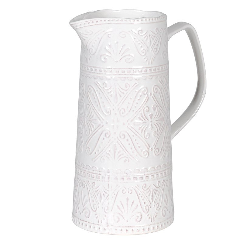Pattern white jug