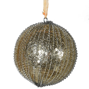 Gold Sequin Bead Bauble