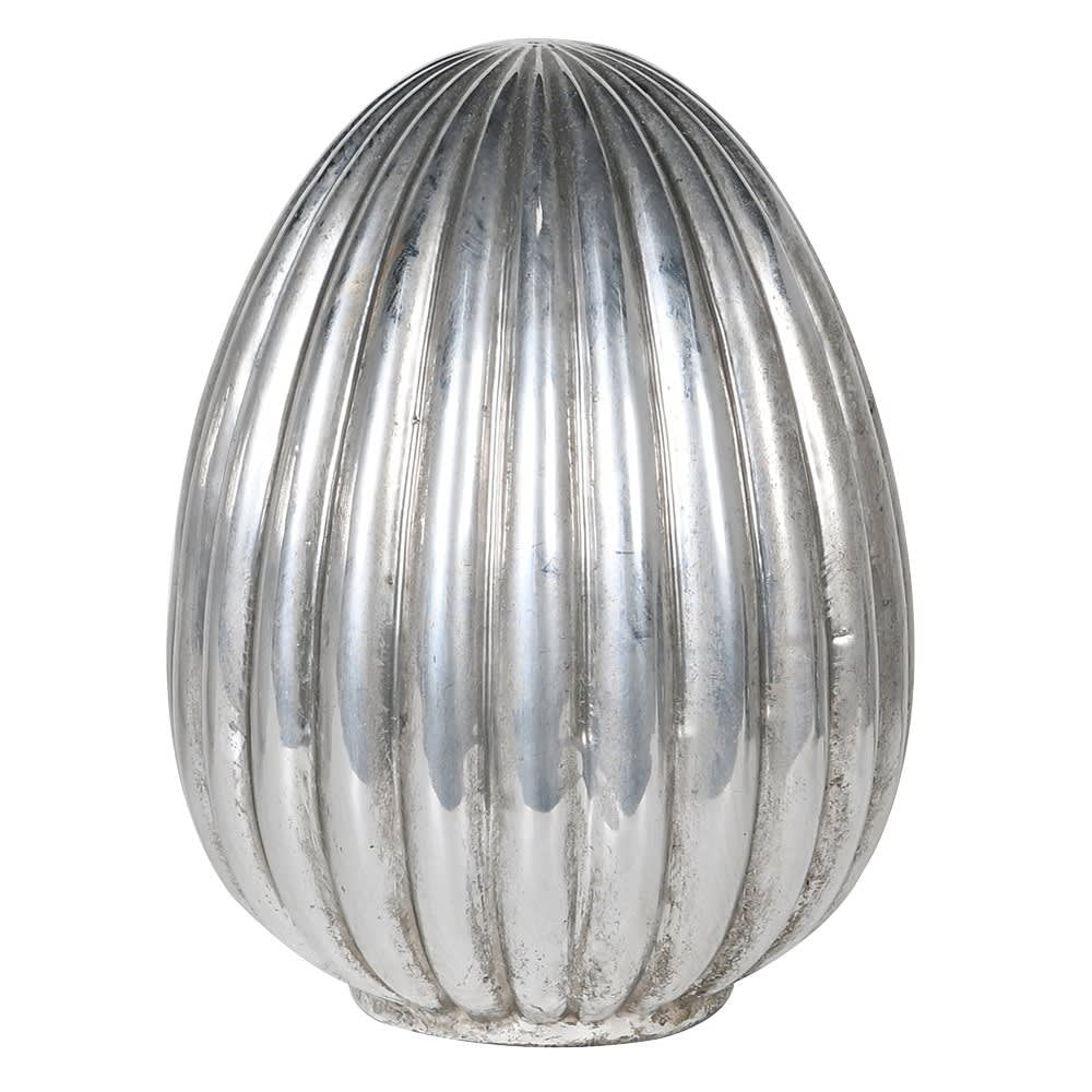 Small silver egg decoration