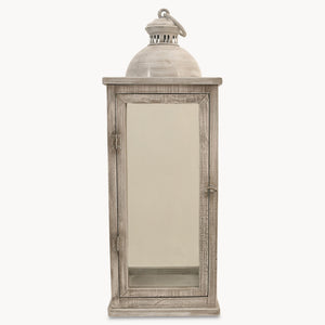 White wash wooden lantern