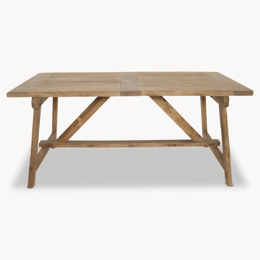 Dark elm rustic dining table