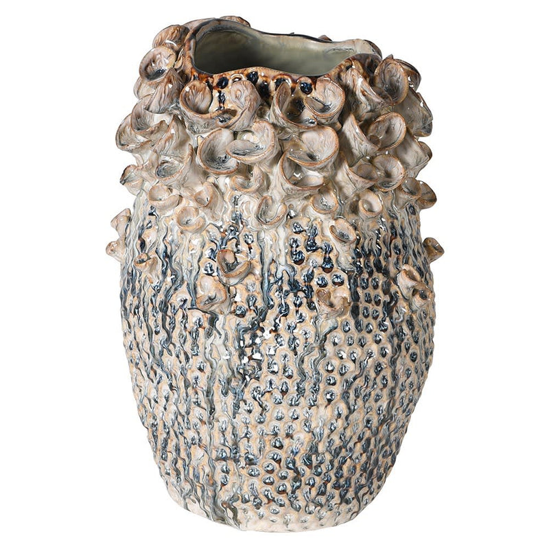 Glazed Coral effect Vase