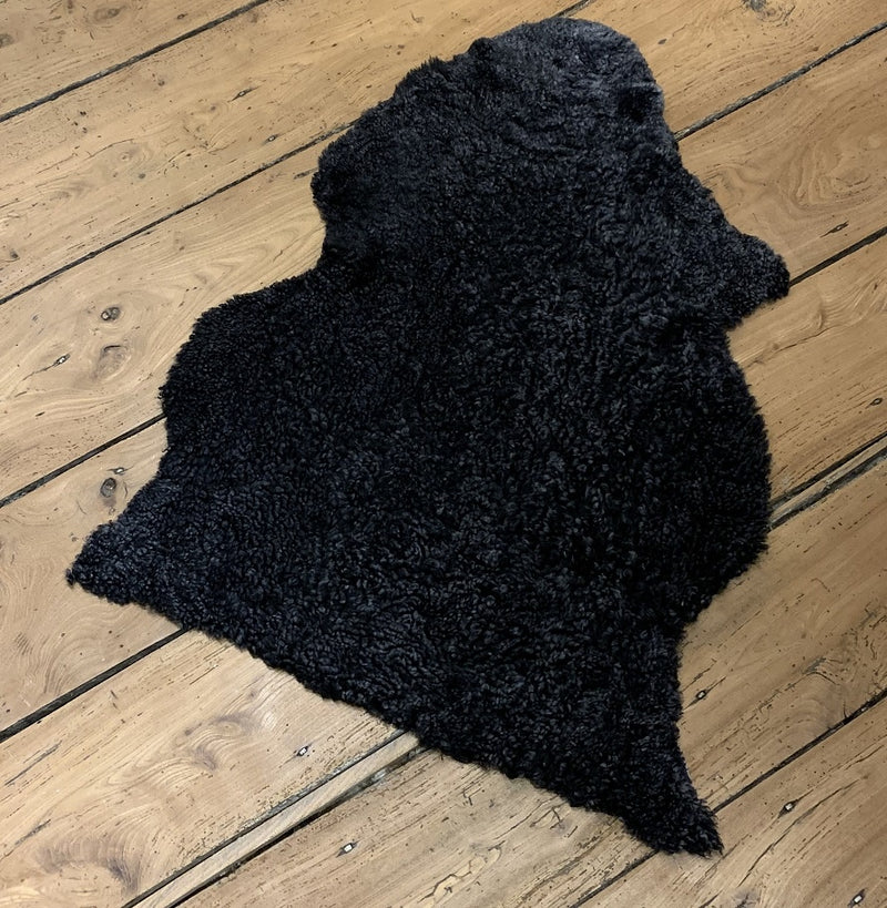 Swedish sheepskin single dark grey rug