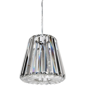 Clear crystal shade pendant light