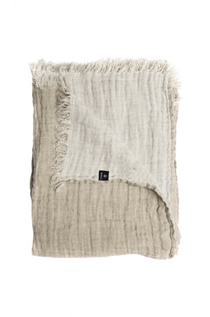Himla Natural/White Hannelin Throw