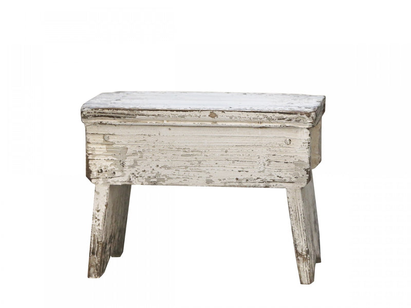 Distressed old french stool