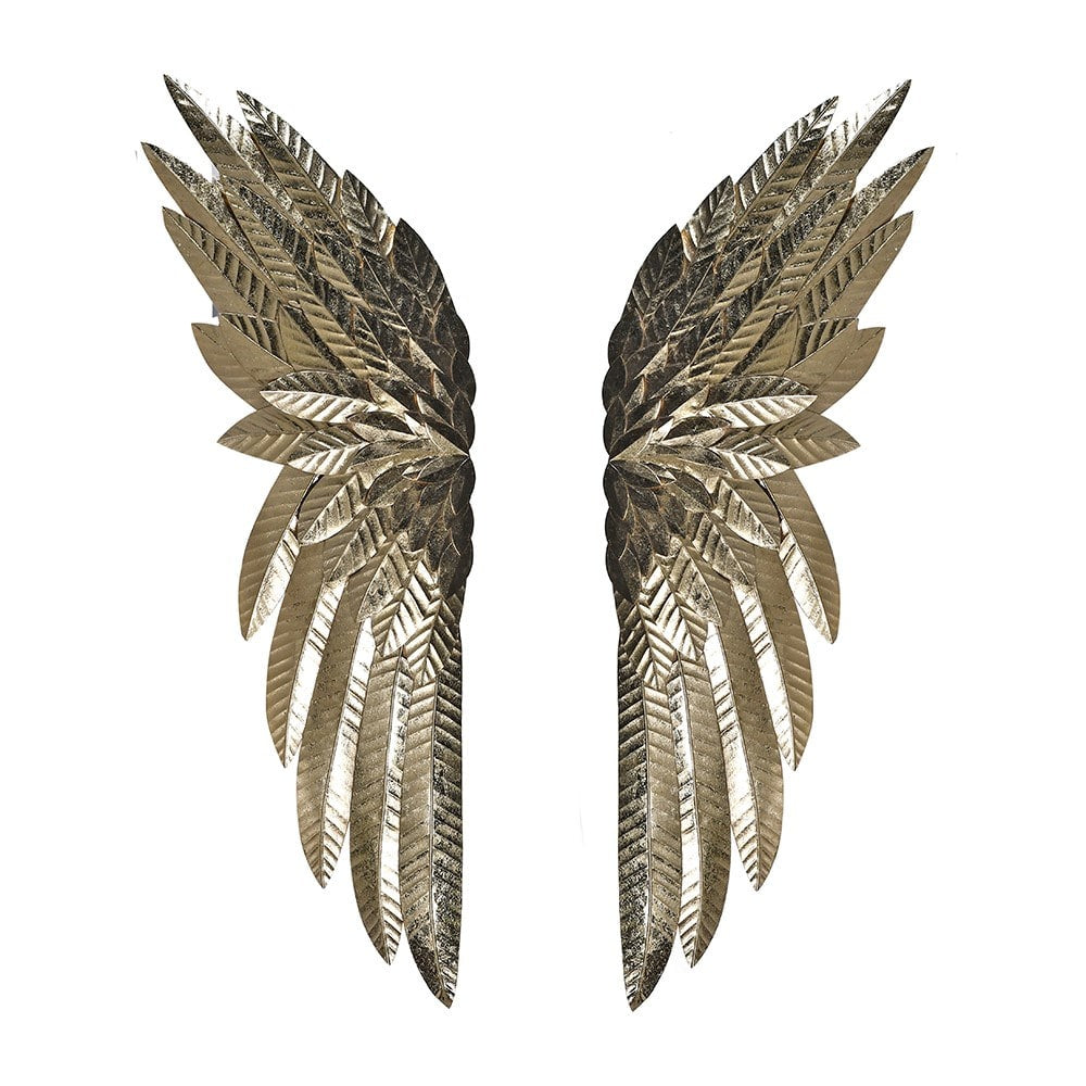 Pair Of Decorative Gold Wings