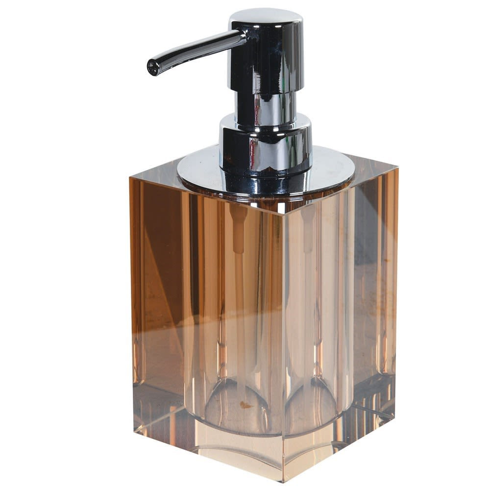Stylish amber crystal soap dispenser