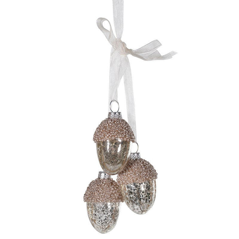 Set of 3 Hanging Acorns