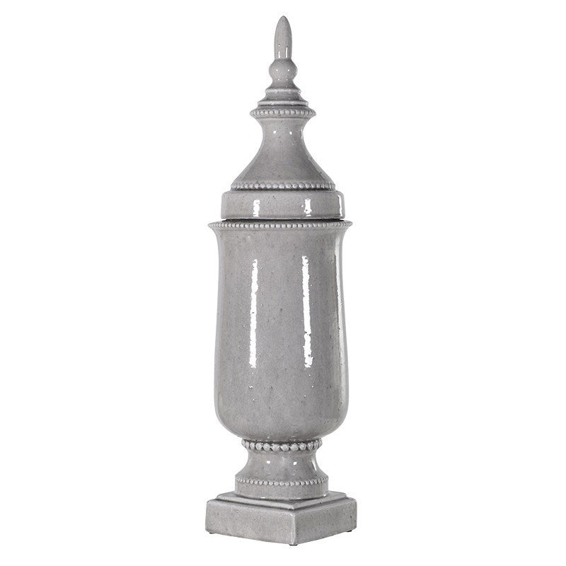 Grey Tall Finial Jar
